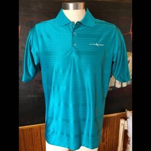 Turquoise Moisture Wicking Polo